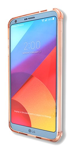 - LG G6 2017 Case, Maxessory Rose Gold Solar Crystal Clear Drop-Proof Protective Ultra-Thin TransHard Rigid Shell Cover w/Shockproof Protector Armor