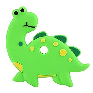 YOUTHINK Dinosaur-Shaped Baby Teether- Silicone Baby Teether Teething Chew Toy for Toddler Infant Above 3 Months (Green)