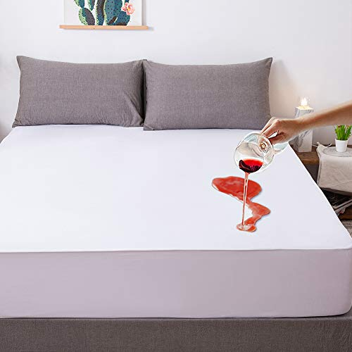 Jola's House Knitting Top Full Size Hypoallergenic Waterproof Mattress Protector Cover Pad Breathable Fitted Sheet Style Deep Heavy Pocket-Vinyl Free