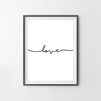 Sur Dessin Karen Croquis Toile Max Une Minimaliste Amour Ligne I0O0Pa