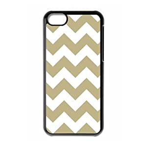 Cheap Hot cases, white and gold chevron picture for black plastic iphone 5c case