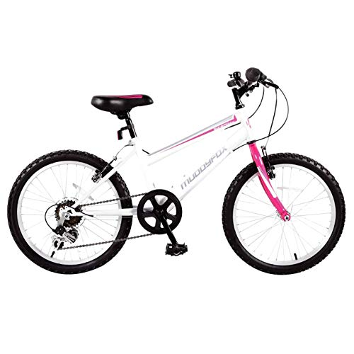 Muddyfox Kids Girls Synergy20 Mountain Bike White/Teal 20 Inch