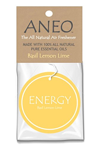 ANEO Energy - The All Natural Essential Oil Air Freshener - Basil Lemon Lime - Pack of 3