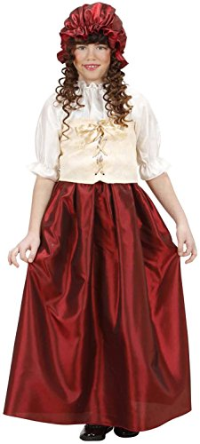 Victorian Peasant Girl Costume (Children's Peasant Girl Costume Large 11-13 Yrs (158cm) For Medieval Middle)