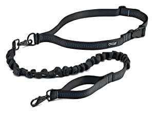 Stunt Puppy Stunt Runner Hands-Free Dog Leash, Black