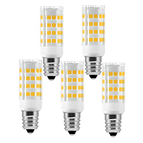 Prices Stoves On Corn - E12 Microwave Oven Light 5W LED Candelabra Light Bulbs (50W Equivalent) Warm White 2800K LED Chandelier Bulbs Non-Dimmable 5 Pack by LUXON