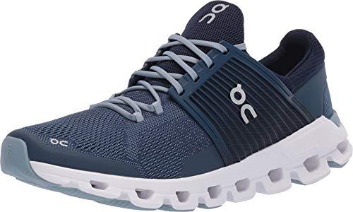 - On Running Mens Cloudswift Denim/Midnight Running Shoe - 10.5
