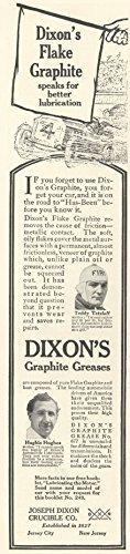 1913-ad-dixon-graphite-greases-race-cars-teddy-tetzlaff-hughie-hughes-original-vintage-advertisement