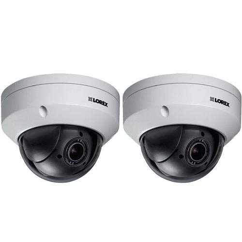 Lorex 2 Pack LNZ32P4B 2.1MP 1080p Indoor/Outdoor HD PTZ Network Dome Camera, 2.7-11mm Lens, Color Night Vision ()