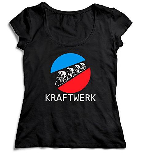 Kraftwerk Tour De Tshirt for Women Shirt T-Shirt MD Ladies Black T-Shirt Christmas