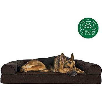 Cool Amazon Com Furhaven Pet Dog Bed Deluxe Orthopedic Plush Machost Co Dining Chair Design Ideas Machostcouk
