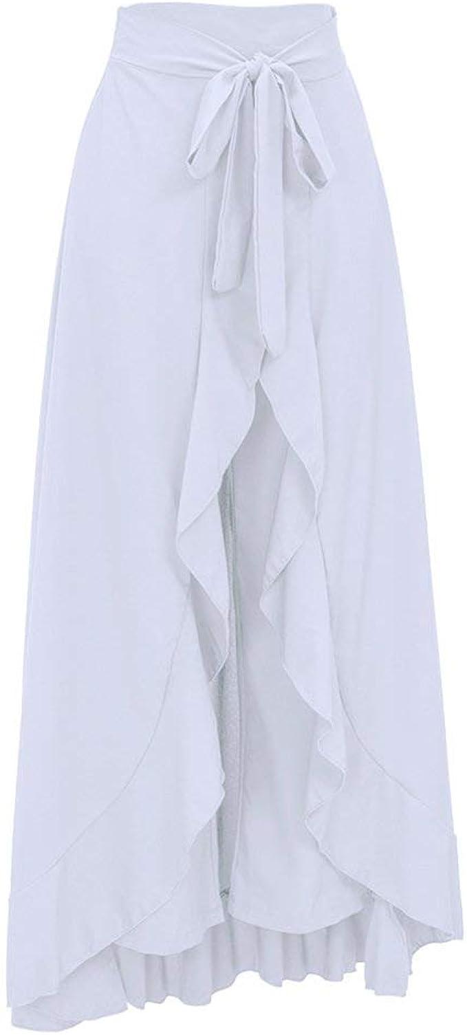 2 En 1 Gasa De De Falda Pantalones para Mujer Moda Completi ...