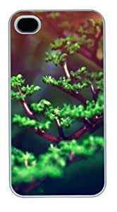 Fresh Tree Buds PC case Cover for iPhone 4 and iPhone 4s ¡§C White