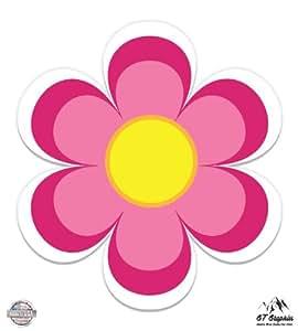 Amazon cute pink flower vinyl sticker waterproof decal bumper stickers decals magnets mightylinksfo