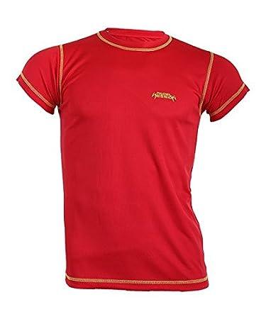 Padel Session Camiseta Tecnica Rojo Amarillo: Amazon.es: Deportes ...