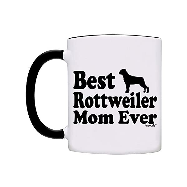 Mug Best Rottweiler Mom Ever Gift Coffee Mug-0061-Black 2
