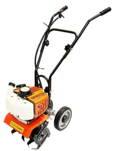 GHP 40CC Displacement 10'' Cultivation Width 2-Stroke Engine Garden Grass Tiller by Globe House Products