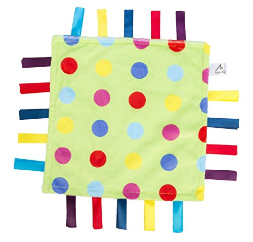 Maven: Soothing Security Blanket – Blue and Green with Multicolored Polka Dots
