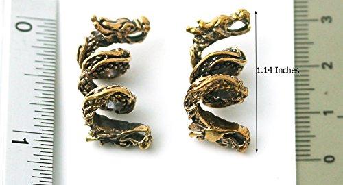 Bronze Norse Viking Dragon Beard Beads Rings, Dwarven Dreadlock Pirate Medieval Hair Beads, Pagan Jewelry by LynnAround (Image #5)