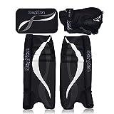 BenKen Sports Hockey Gear Goalie Pad Pack Ice Hockey Equipment Teenager &Adult Blue Black (Black 24'')