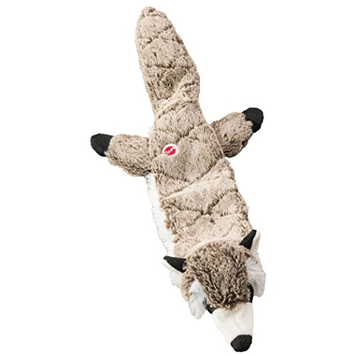 (Ethical Pets Raccoon Skinneeez Extreme Stuffingless Quilted Dog Toy, 23