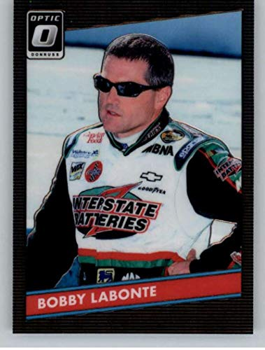 2019 Donruss Racing Optic Parallel #61 Bobby Labonte Interstate Batteries/Joe Gibbs Racing/Pontiac 1986 Retro Official NASCAR Trading Card