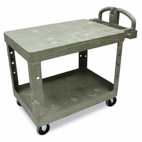 (RCP4525BEI - Rubbermaid Flat Shelf Utility Cart, 2-shelf, 25-7/8w X 43-7/8d X 33-1/3h, Beige)