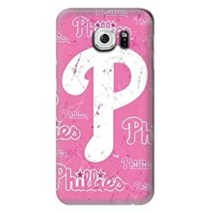 S6 Edge Case, MLB - Philadelphia Phillies - Pink Cap Logo - Samsung Galaxy S6 Edge Case - High Quality PC Case