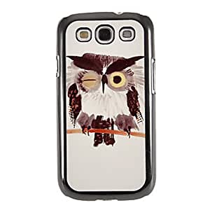 Gt Chinese Ink Painting Owl Pattern Mirror Smooth Back Hard Case with HD Screen Film 3 Pcs for Samsung S3 I9300