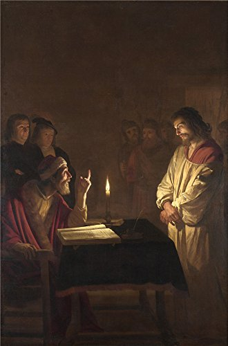 [The Polyster Canvas Of Oil Painting 'Gerrit Van Honthorst Christ Before The High Priest ' ,size: 16 X 24 Inch / 41 X 62 Cm ,this Replica Art DecorativePrints On Canvas Is Fit For Wall Art Gallery Art And Home Artwork And] (Bike Lane Costume)