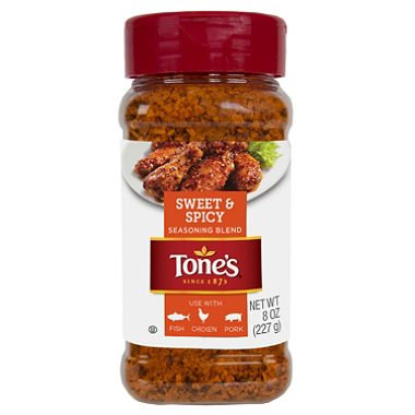 Tones Sweet & Spicy Seasoning Blend (8 oz.) (pack of 2) - Tone Blue Cats