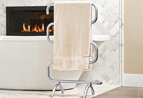 Wall Mounted Electric Towel Warmer (Freestanding/Wall Mounted Electric Towel Warmer Drying Rack Laundry Drying Rack)