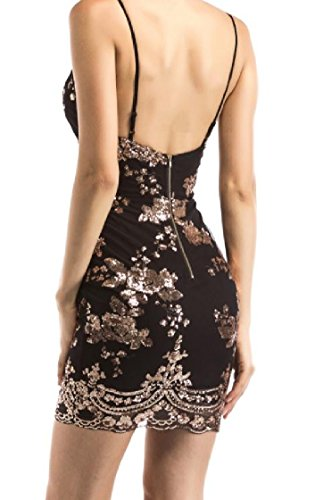 Plunge 1 Coolred V Dresses Neck Strap Women Sexy Sequin Slim Backless Spaghetti Evening rqwTYq7gx
