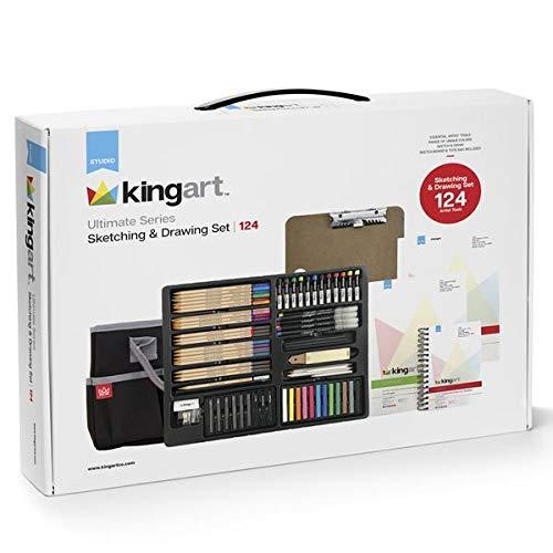 KINGART 152  Ultimate Series Sketching & Drawing Set, Set of 124 by KINGART