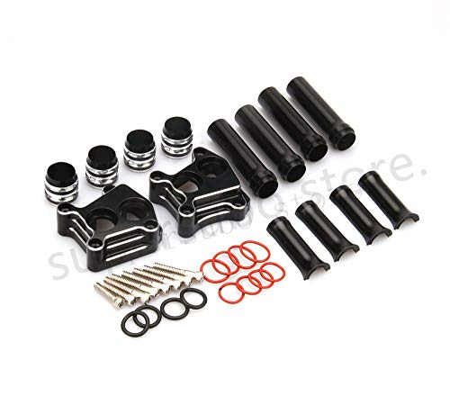 CNC Motorcycle Parts Set of Pushrod Cover and Lifter Block Cover for Harley 1999-2015 Twin Cam ()