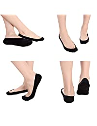 Womens No-show Casual Foot Liner 3 or 4 Pack Low Cut Flat Socks