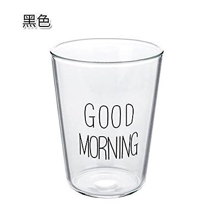 UWSZZ Copa de cristal transparente copa de leche microondas tazas de avena para desayunar zumo de
