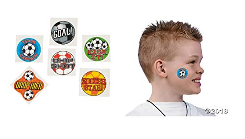 144 Fun Soccer Temporary Tattoos (1 Gross) / Party Favors/Gift / Giveaway/Stocking Stuffer]()