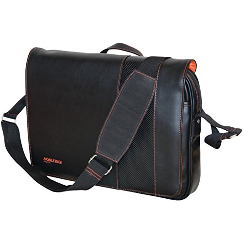 Mobile Edge MEUTSMB6 Slimline 14 Notebook Messenger Bag Black/Orange Stitching Electronics Computers Accessories - Edge Messenger