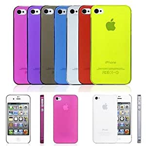 JJE PP Ultra Thin 0.01 inch/0.3 mm Soft Case for iPhone 4/4S (Assorted Colors) , White