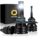 OXILAM [2019 Newest] 9006-LED-Headlight-Bulbs 10,000 Lumens Extremely Bright Mini Design HB4 All-in-One Conversion Kit 6000K White-2 Year Warranty (Pack of 2)