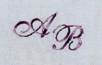 Toalla de 30 x 30 cm Nueva York blanco con iniciales, bordado/bordado con tus iniciales, bordado púrpura multi colour S2124: Amazon.es: Deportes y aire ...
