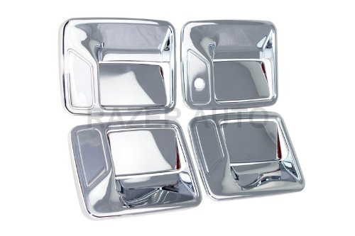 Chrome Door Handle Excursion (Razer Auto CHROME DOOR HANDLE COVER 4D W/O PASSENGER KEYHOLE for 2000-2005 FORD EXCURSION/1999-2013 FORD 250/350 SUPERDUTY)