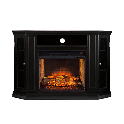 Southern Enterprises AZ5139IF Claremont Convertible Media Infrared Fireplace, Black Finish