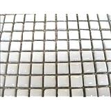 Glazed Ceramic Mosaic Tiles.10 x 10mm tiles. White. 196 tile pack.