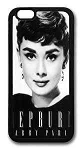 Audrey Hepburn 5 TPU Silicone Case Cover for iPhone 6 4.7 inch Black