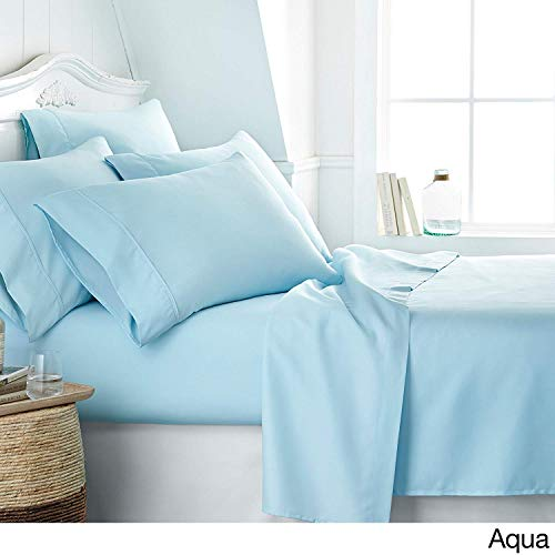(RELIABLE BEDDING Egyptian Cotton Ultra Soft Luxury Sheet Set Wrinkle & Fade Resistant,Luxurious,Comfortable,Extremely Durable, 600 TC 15'' Deep Pocket Quality Bedding Set's By, Cal King-Sky Blue)