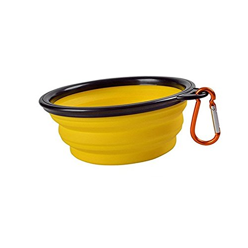 Ohomr Portable Silicone Collapsible Pet Bowl for Women Men