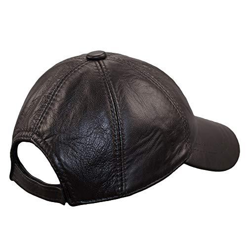 Mujer Gorra MARRON Gorras Piel Sombrero Hombre Béisbol Boina Planas 2P Cuero Dazoriginal gT1pTd