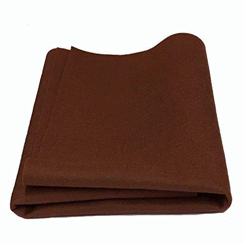 100% Wool Felt 18 inch square - Brown